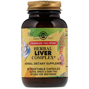 Солгар, Herbal Liver Complex, 50 Vegetable Capsules отзывы