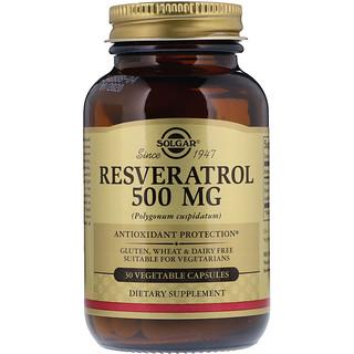 Solgar, Resveratrol, 500 mg, 30 Cápsulas Vegetarianas