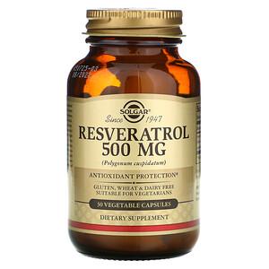 Солгар, Resveratrol, 500 mg, 30 Vegetable Capsules отзывы
