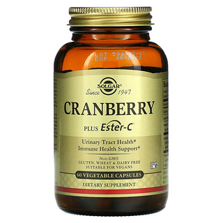 Solgar, Cranberry Plus Ester-C, 60 Vegetable Capsules