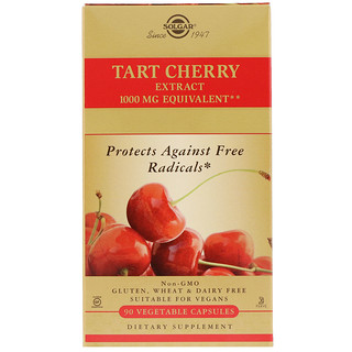Solgar, Tart Cherry Extract, 90 Vegetable Capsules