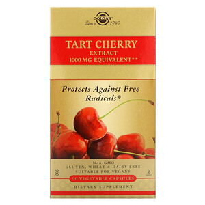 Солгар, Tart Cherry Extract, 1000 mg, 90 Vegetable Capsules отзывы покупателей