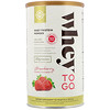 Solgar, Whey To Go, Whey Protein Powder, Strawberry, 16 oz (453.5 g)