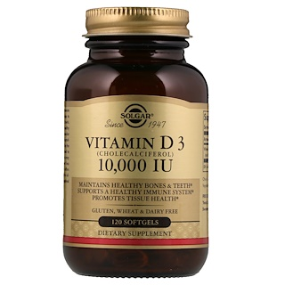 Solgar, فيتامين د 3 الطبيعي، 10، 000 وحدة دولية، 120 سوفتجيل
