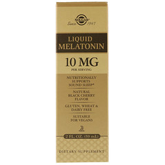 Solgar, Liquid Melatonin, Natural Black Cherry Flavor, 10 mg, 2 fl oz (59 ml)