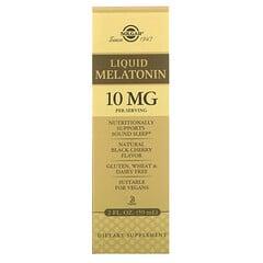 Solgar, 褪黑激素液,天然黑櫻桃味,10 毫克,2 液量盎司 (59 毫升)