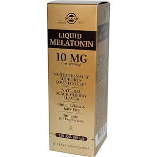 Solgar, Liquid Melatonin, 10mg, Natural Black Cherry, 2oz