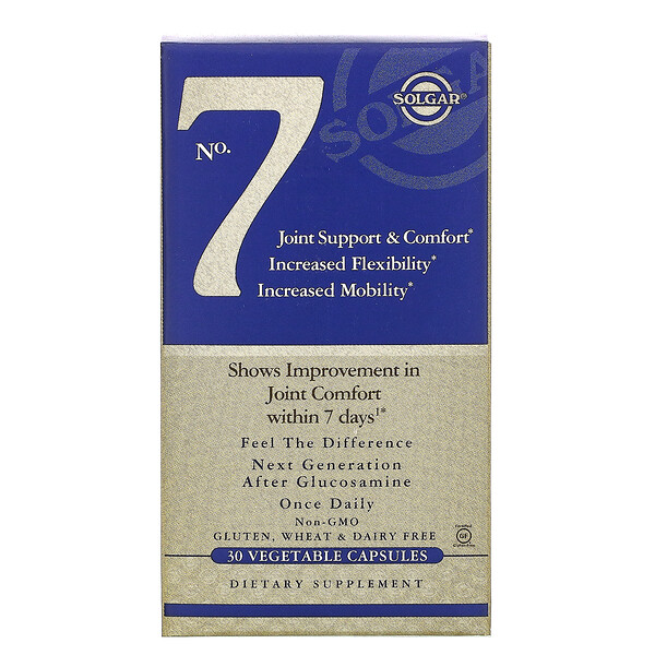 Solgar, No. 7, Joint Support & Comfort, 30 Vegetable Capsules