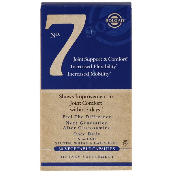Solgar, No. 7, Joint Support & Comfort, 30 Cápsulas Vegetais
