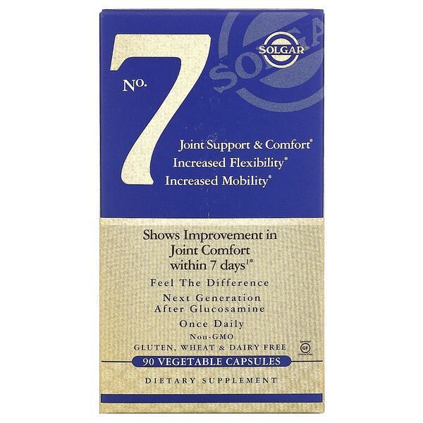 No. 7, Joint Support & Comfort, 90 Vegetable Capsules