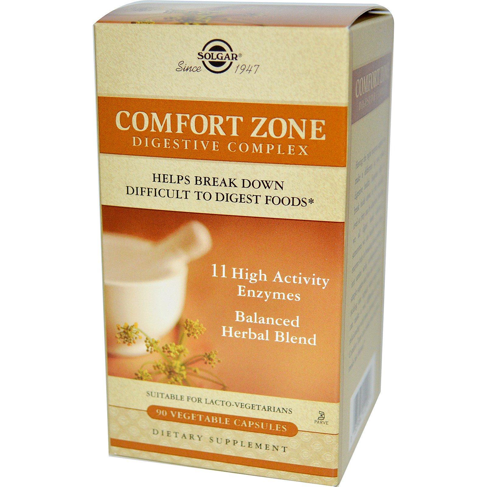 Solgar comfort zone digestive complex 90 vegetable for Confort zone