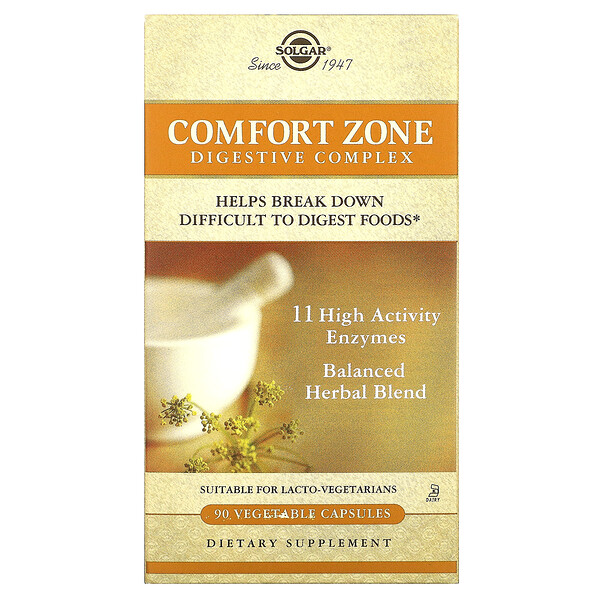 Comfort Zone Digestive Complex, 90 Vegetable Capsules