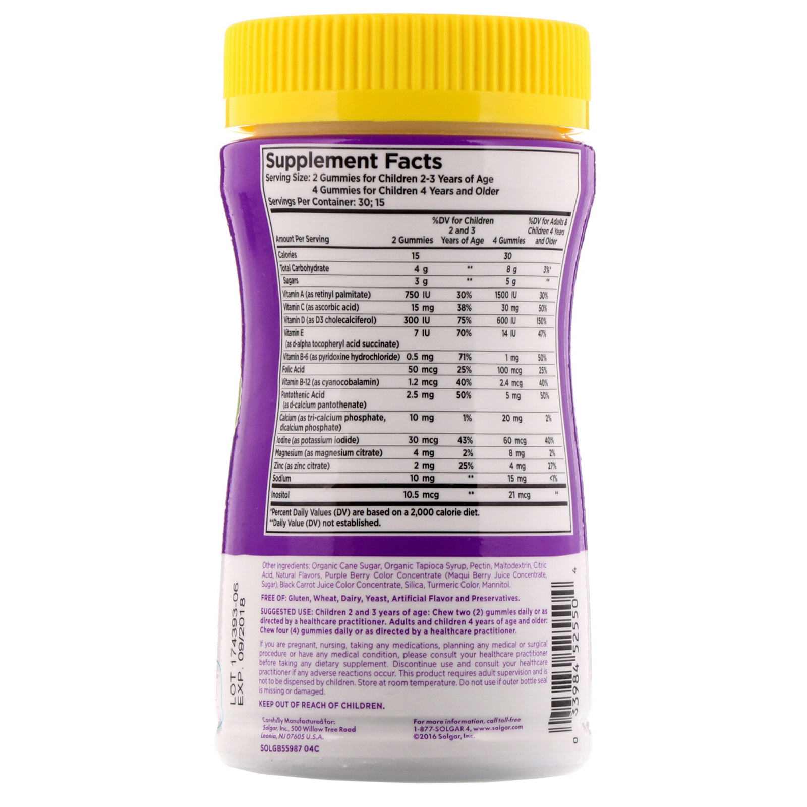 Solgar, U-Cubes, Children s Multi-Vitamin   Mineral Gummies, 60 Gummies. By  Solgar 1d8a40d4059f
