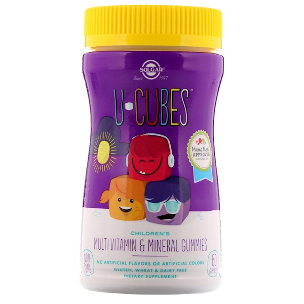 U-Cubes, Children's Multi-Vitamin & Mineral Gummies, 60 Gummies