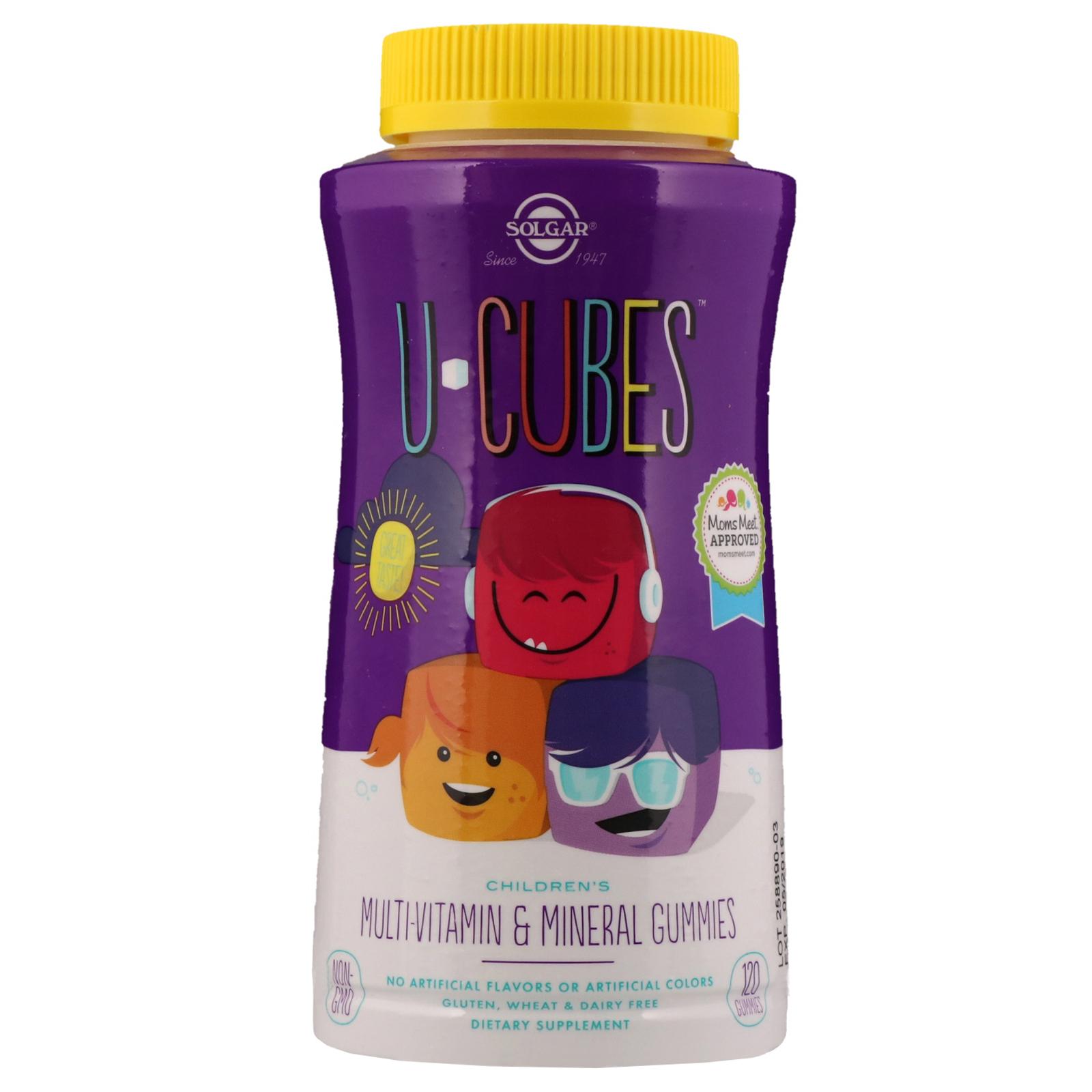 Solgar, U-Cubes, Children s Multi-Vitamin   Mineral Gummies, 120 Gummies 561681c647ea