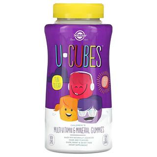Solgar, U-Cubes,兒童多維生素和礦物質軟糖,櫻桃和柳丁味,120 粒軟糖