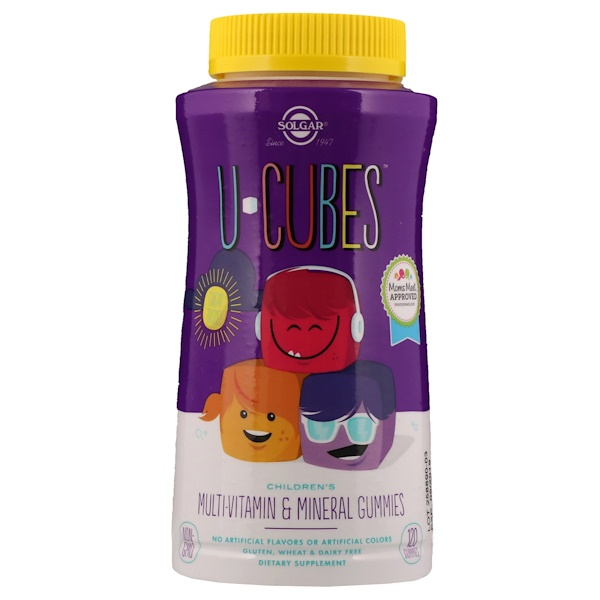 U-Cubes, Children's Multi-Vitamin & Mineral Gummies, 120 Gummies