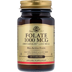 Solgar, Folate, 1,000 mcg, 60 Tablets