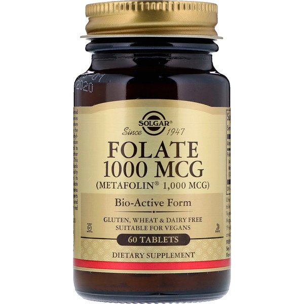 Solgar, Folate as Metafolin, 1,000 mcg, 60 Tablets