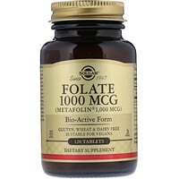 Folate as Metafolin, 1,000 mcg, 120 Tablets - фото