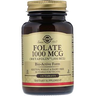 Solgar, Folate, As Metafolin, 1000 mcg, 120 Tablets
