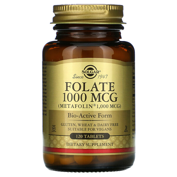Solgar, Folate, 1,000 mcg, 120 Tablets