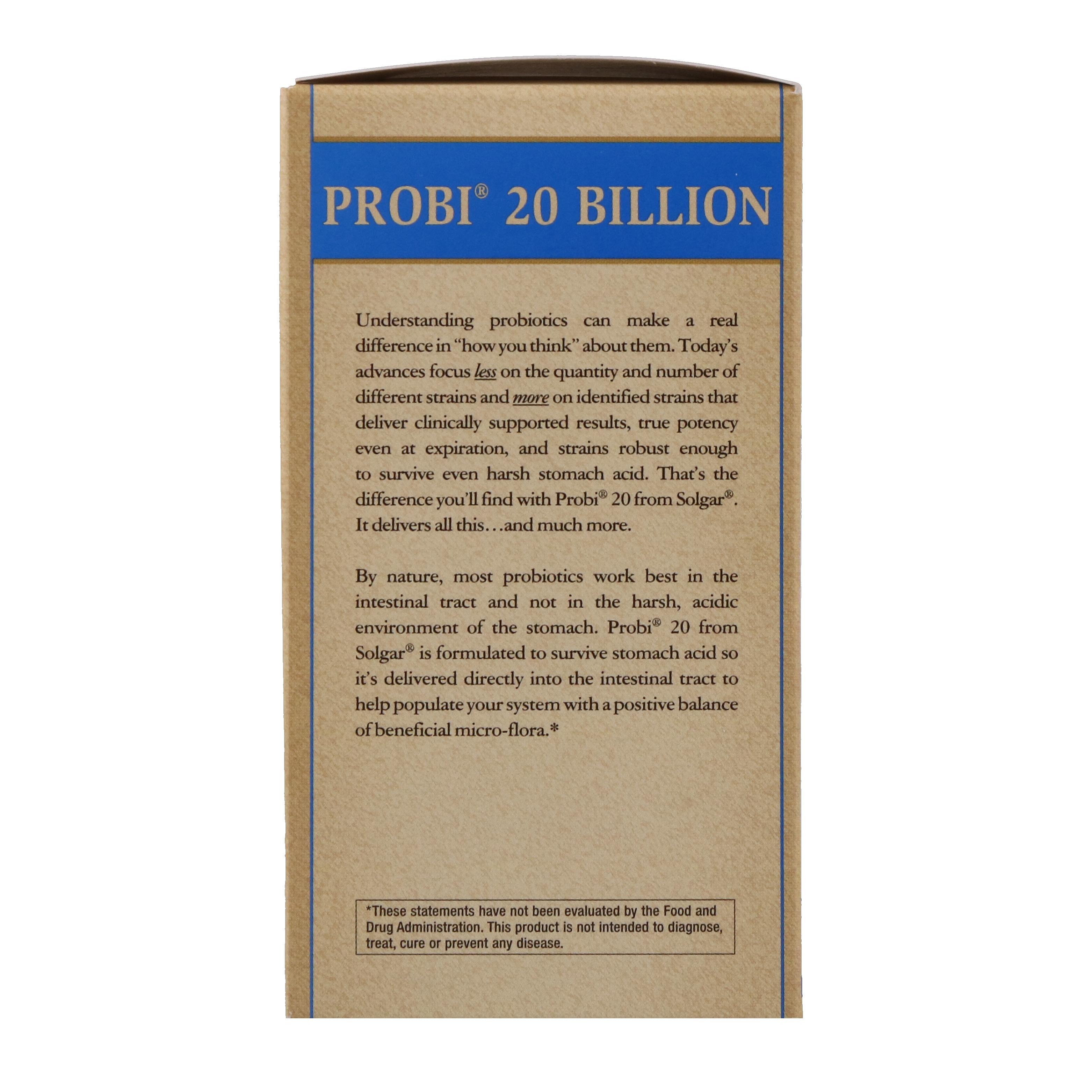 Solgar, Probi 20 Billion, 30 Vegetable Capsules - iHerb.com
