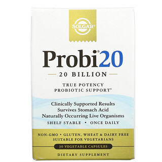 Solgar, Probi20, 20 Billion, 30 Vegetable Capsules