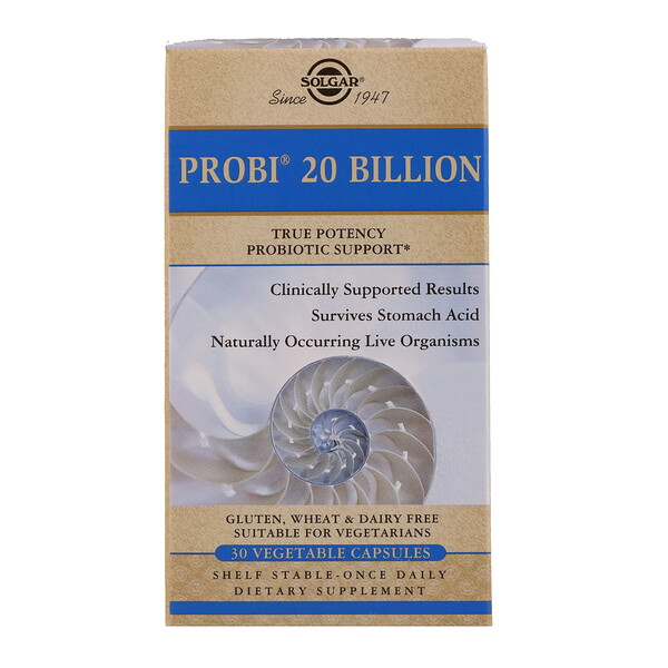 Solgar, Probi 20 Billion, 30 Vegetable Capsules