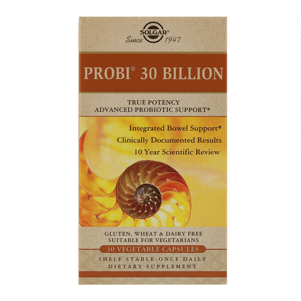 Solgar, Probi 30 Billion, 30 Vegetable Capsules