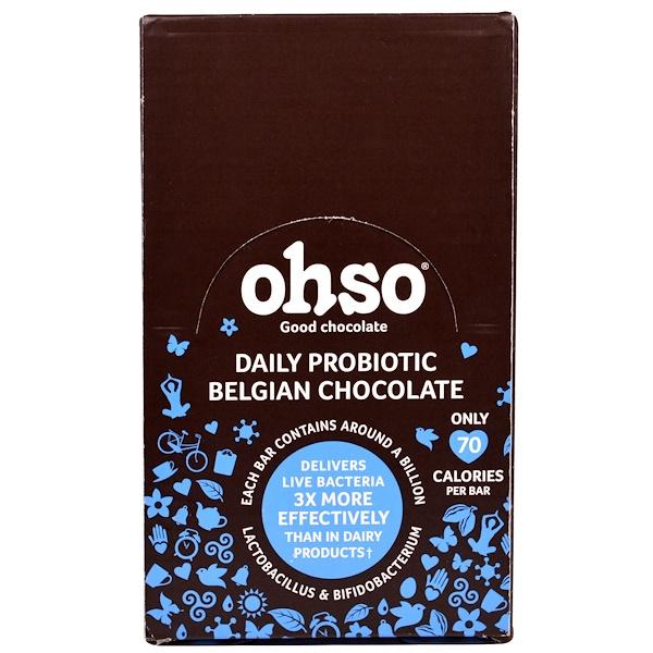 Solgar, Ohso, Daily Probiotic Belgian Chocolate, Original, 24 Bars (Discontinued Item)