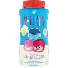Solgar, U-Cubes, Children's Calcium With D3, Pink Lemonade, Blueberry, Strawberry Flavors, 120 Gummies