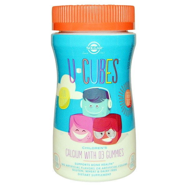 Solgar, U Cubes, Children's Calcium With D3 Gummies, 60 Gummies