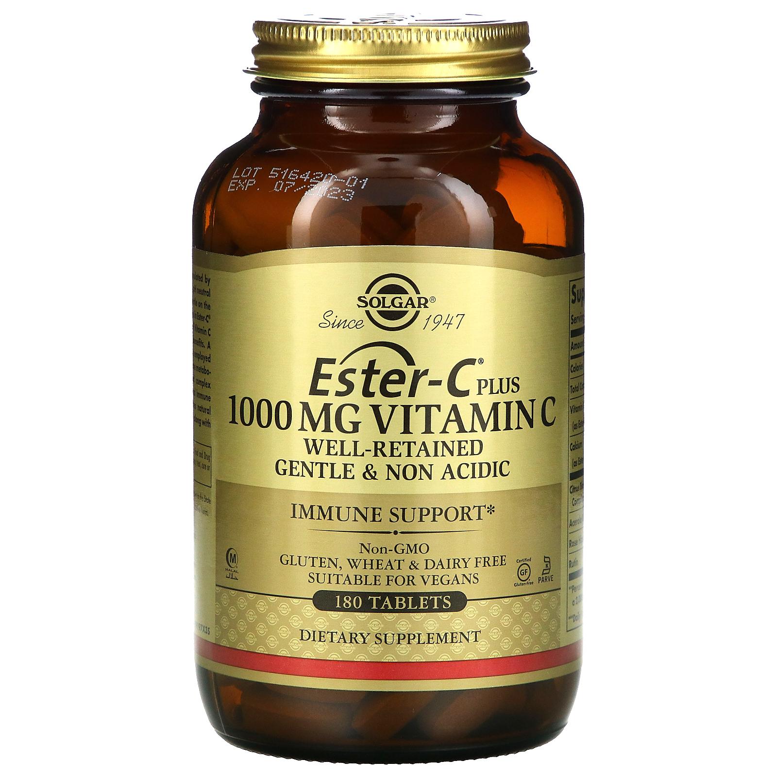 Solgar Ester C Plus Vitamin C 1 000 Mg 180 Tablets Iherb