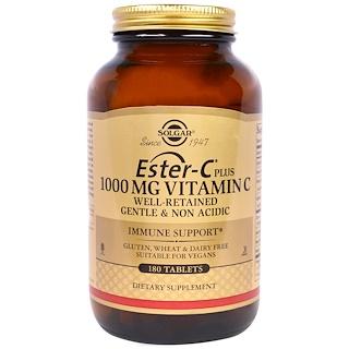 Solgar, Ester-C Plus, Vitamin C, 1,000 mg, 180 Tablets