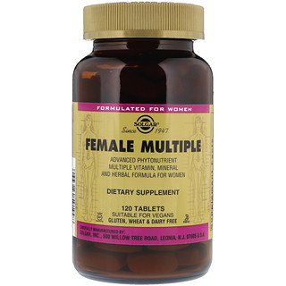 Solgar, Female Multiple, 120 Tablets