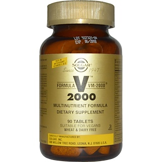 Solgar, Formula VM-2000, Multinutrient Formula , 90 Tablets