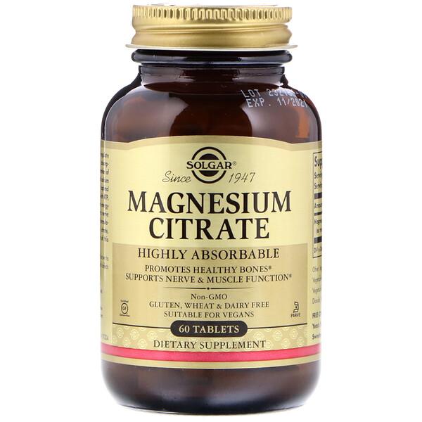 Solgar, Magnesiumcitrat, 60 Tabletten