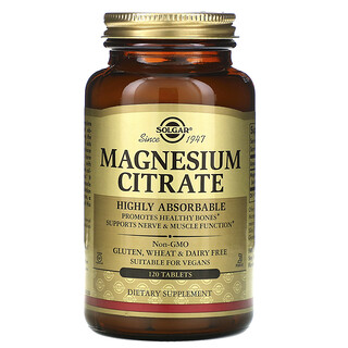 Solgar, Magnesium Citrate, 120 Tablets