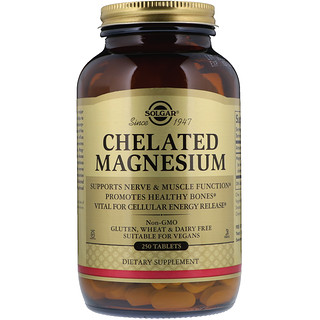 Solgar, Chelated Magnesium, 250 Tablets