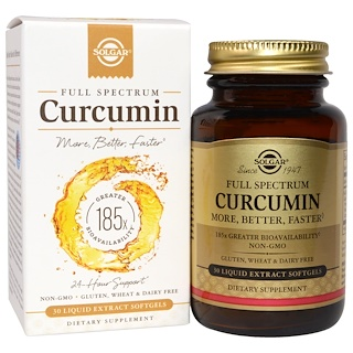 Solgar, Full Spectrum Curcumin, 30 Liquid Extract Softgels