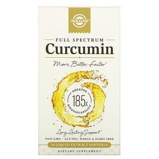 Solgar, Full Spectrum Curcumin, 30 Liquid Extract Softgels