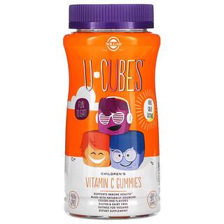 Solgar, U-Cubes, Children's Vitamin C Gummies, Orange & Strawberry, 90 Gummies