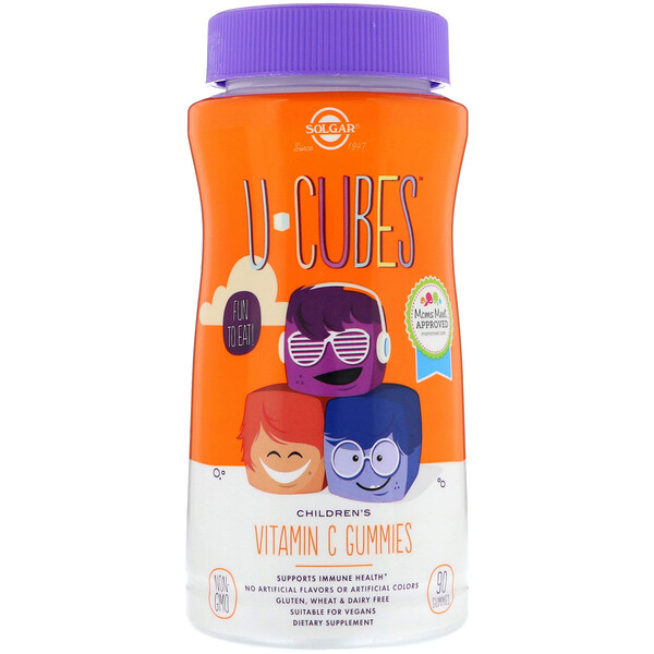 U-Cubes, Children's Vitamin C, Orange & Strawberry Flavors, 90 Gummies