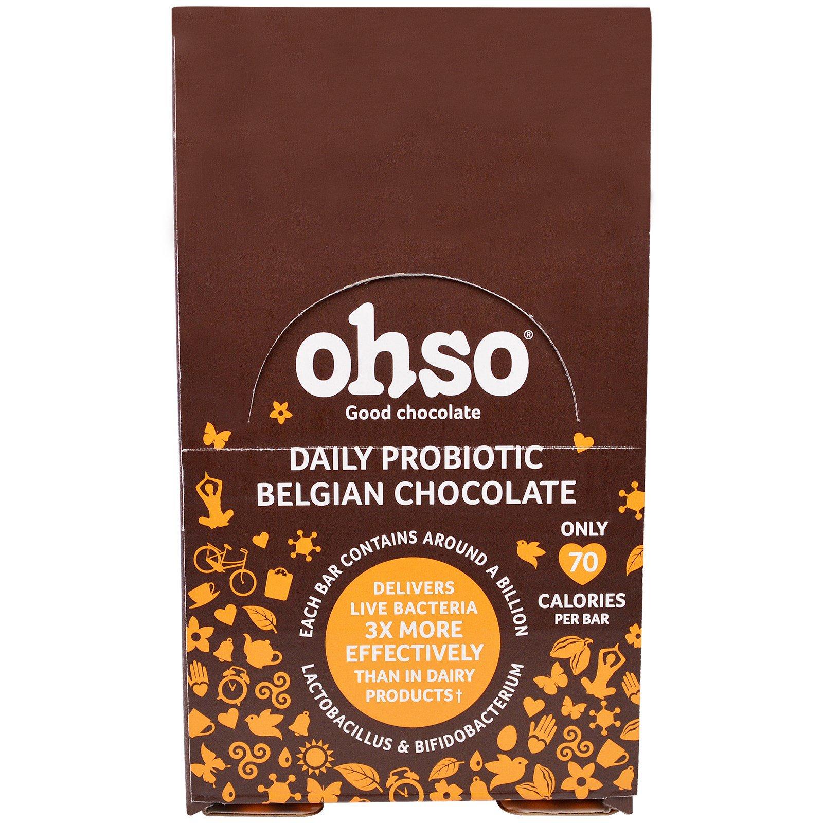 Solgar, Ohso, Daily Probiotic Belgian Chocolate, Orange, 24 Bars ...