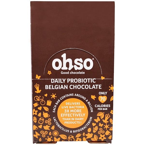 Solgar, Ohso, Daily Probiotic Belgian Chocolate, Orange, 24 Bars (Discontinued Item)