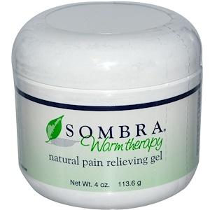 Сомбра Профешэнэл Терапи, Warm Therapy, Natural Pain Relieving Gel, 4 oz (113.6 g) отзывы