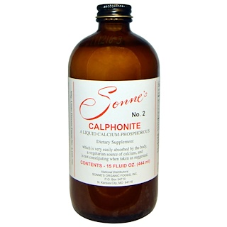 Sonne's, No.2, Calphonite, A Liquid Calcium-Phosphorous, 15 fl oz (444 ml)