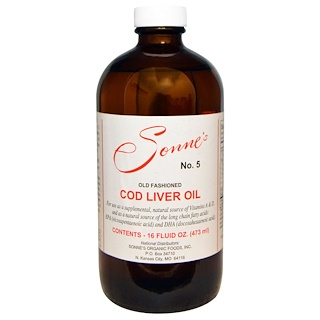 Sonne's, No. 5, Old Fashioned Cod Liver Oil, 16 fl oz (473 ml)