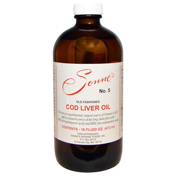 Sonne's Organic Foods, No. 5, Old Fashioned Cod Liver Oil, 16 fl oz (473 ml) (Discontinued Item)